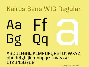 Kairos Sans W1G Regular Version 1.00 Font Sample