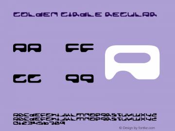 Golden Girdle Regular Version 2.1; 2001; rerelease Font Sample