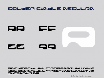 Golden Girdle Regular Version 2.000 2004 Font Sample
