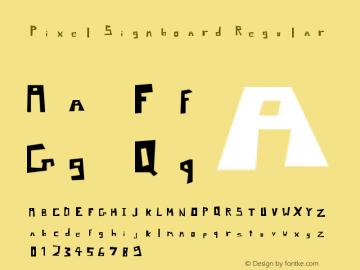 Pixel Signboard Regular Version 1.0图片样张