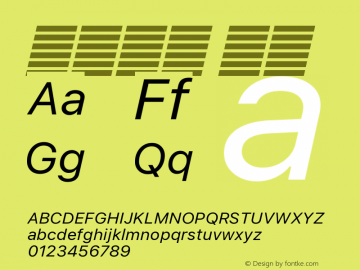 系统字体 斜体 12.0d5e1 Font Sample