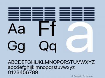 系统字体 常规体 12.0d5e1 Font Sample