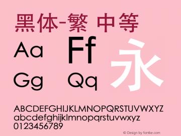 黑体-繁 中等 10.0d7e3 Font Sample