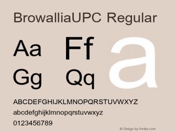 BrowalliaUPC Regular Version 2.1 - July 1995 Font Sample