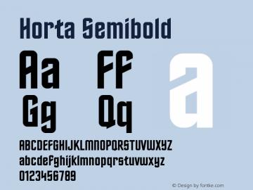 Horta Semibold Version 0.9 Font Sample