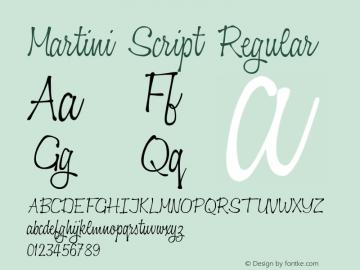 Martini Script Regular Version 1.020图片样张