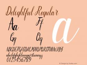 Delightful Regular Version 1.000 Font Sample