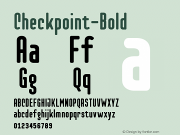 Checkpoint-Bold ☞ Version 1.100;com.myfonts.easy.t26.checkpoint.bold.wfkit2.version.3yUe图片样张