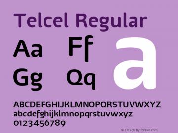 Telcel Regular Version 1.00 2010 Font Sample