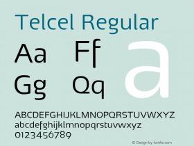 Telcel Regular Version 1.00 2011 Font Sample