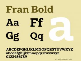 Fran Bold Version 1.001图片样张
