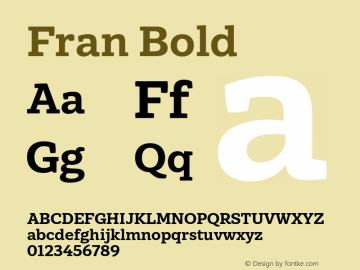 Fran Bold Version 1.001图片样张