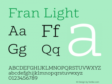 Fran Light Version 1.001图片样张