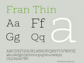 Fran Thin Version 1.001图片样张
