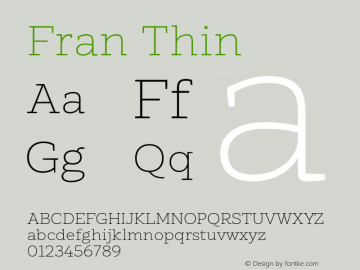 Fran Thin Version 1.001图片样张