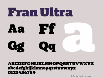 Fran Ultra Version 1.001图片样张