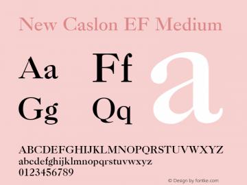 New Caslon EF Medium Version 1.000 Font Sample
