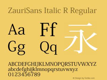 ZauriSans Italic R Regular Version 6.003 August 3, 2016图片样张