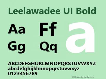 Leelawadee UI Bold Version 1.00图片样张