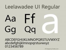 Leelawadee UI Regular Version 1.00图片样张