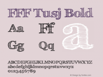 FFF Tusj Bold Version 1.0 Font Sample