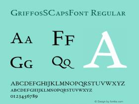 GriffosSCapsFont Regular 1.0图片样张