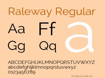 Raleway Regular Version 2.001 Font Sample
