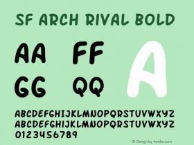 SF Arch Rival Bold ver 1.0; 2000. Freeware. Font Sample
