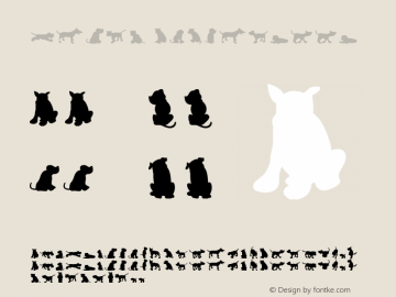 Dog30 Silhouette Version 001.000 Font Sample