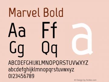 Marvel Bold Version 1.001 Font Sample