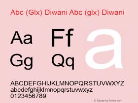 Abc (Glx) Diwani Abc (glx) Diwani Version 1.0 by Glx 2000.7图片样张