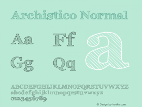 Archistico Normal Version 1.1 Font Sample
