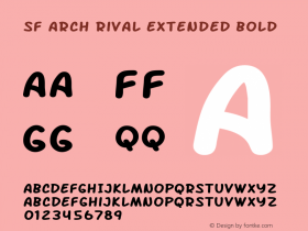 SF Arch Rival Extended Bold ver 1.0; 2000. Freeware.图片样张