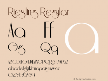 Riesling Regular 1.0 Font Sample
