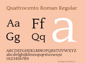 Quattrocento Roman Regular Version 1.000图片样张