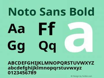 Noto Sans Bold Version 1.04 Font Sample