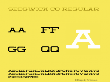 Sedgwick Co Regular Version 001.000 Font Sample
