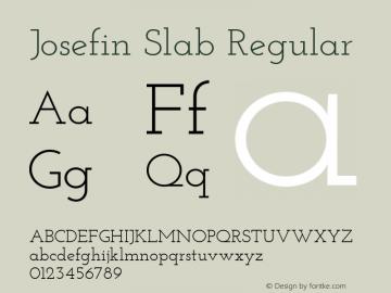 Josefin Slab Regular Version 1.000 Font Sample