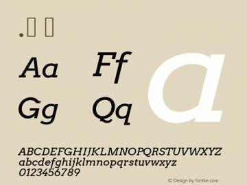 .  Version 2.001 2013 beta release Font Sample