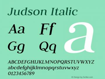 Judson Italic Version 20110127图片样张
