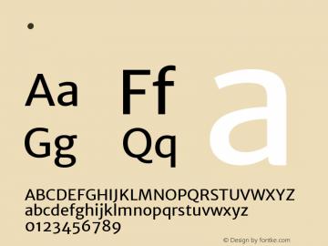 .  Version 1.003 Font Sample