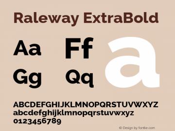 Raleway ExtraBold Version 2.001 Font Sample