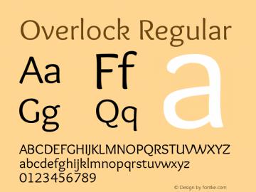 Overlock Regular Version 1.001 Font Sample