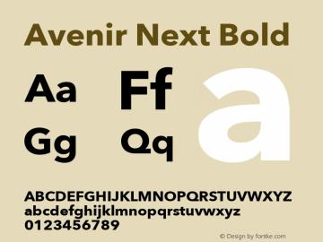 Avenir Next Bold 12.0d1e9 Font Sample
