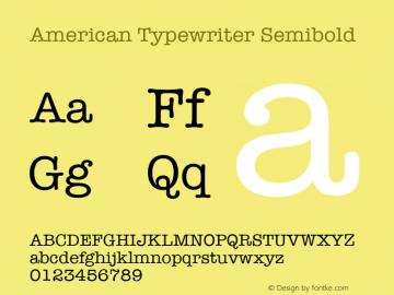 american typewriter semibold font free download