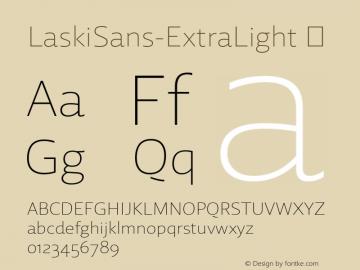 LaskiSans-ExtraLight ☞ Version 1.000;com.myfonts.easy.re-type.laski-sans.extra-light.wfkit2.version.4yE2图片样张