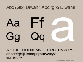 Abc (Glx) Diwani1 Abc (glx) Diwani1 Abc (Glx) Diwani1 Font Sample