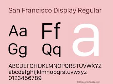 San Francisco Display Regular 10.0d27e2--BETA Font Sample