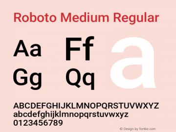 Roboto Medium Regular Version 2.001152; 2014图片样张