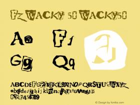 FZ WACKY 50 WACKY50 Version 1.000 Font Sample